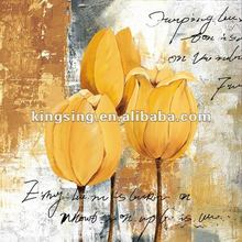 wholesale Flowers Abstract Art Canvas Picture for Christmas Decoration HT12576