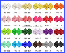 Hot Sale Colorful Cotton Fabric Big Bow Headband Baby Knitted Turban Headband