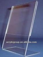 Manufacturer supplies elegant table tent acrylic sign holder