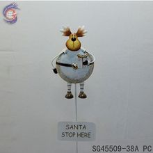 lovely animal of metal elk with stop sign for christmas yard decor
