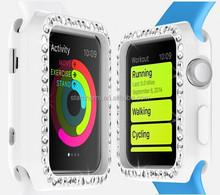 Newest creative high quality fashion diamond tpu case for apple watch
