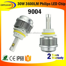 Guangzhou Factory 3hi lo beam led headlight 30watt 9004 headlight kit 3600lumen led headlight