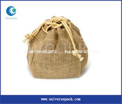 wholesale mini jute pouch jewelry jute bag