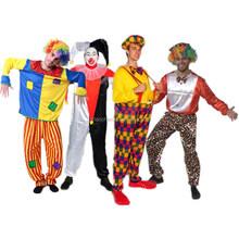 Profissional traje do palhaço coringa traje adulto traje fotos palhaços para o carnaval