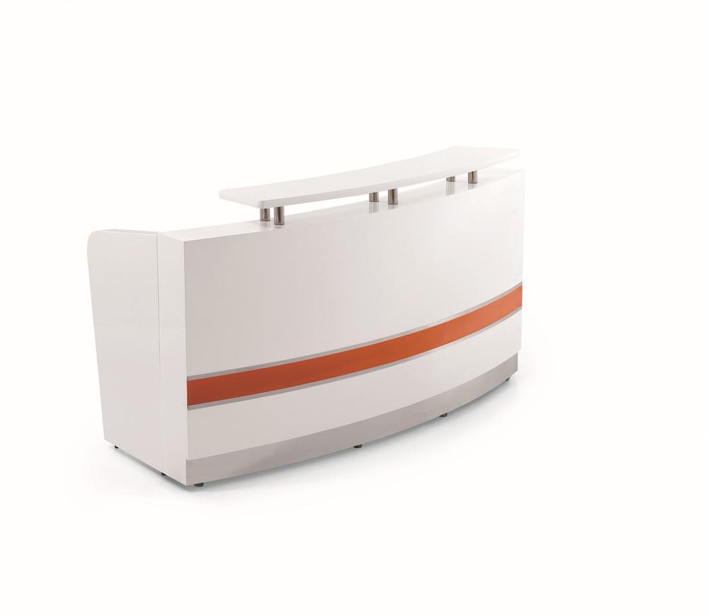 Modern beauty l shaped reception desk high gloss reception for L shaped salon reception desk