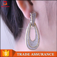 Personality fashion charm earring jewelry latest design gold plated earring diamond earring