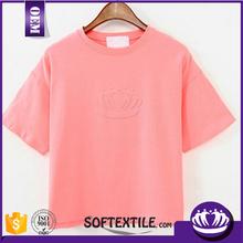 65% cotton 15% polyester t shirt wholesale brand t shirt/ woman clothes