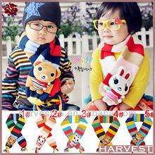 2014 winter lovely bear kids scarfs for boys&girls