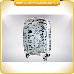 Four wheels ABS/PC Lovely child luggage kids trolley luggage , kids cartoon characters luggage