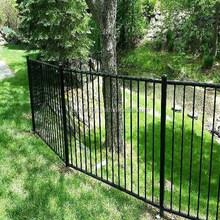 two- rail black aluminum fence, cast aluminum fence, anti climb fence