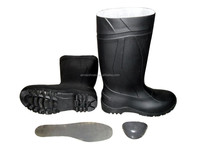 Safety PVC rain boots with steel toe/industrial rain boots/rain shoes