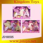 2015 brinquedo beleza gift set boneca princesa com pegasus