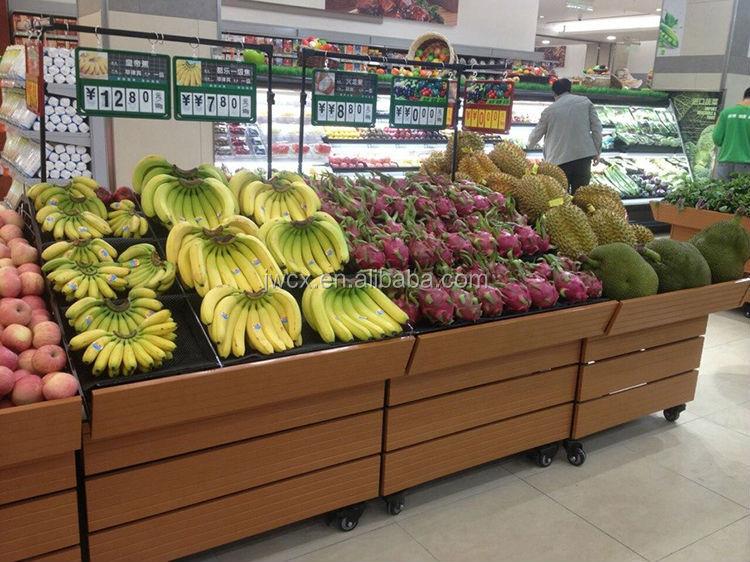 Display Rack For Fruit Vegetables In Super Market View