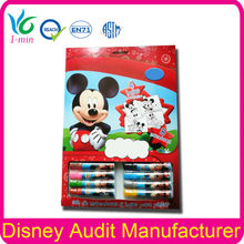 8 Piece Water Color Pen Coloring Book Painting Set for Kids