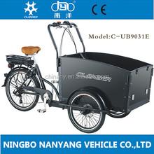2014 hot sale three wheel 24 inch, 6 speeds Electric Cargo Bike/bakfiets/cargobike model UB9031E
