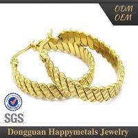 Hot Sale Custom Laser Gold Earrings New Model 2012