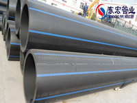 High Quality Black HDPE pipe with blue strip