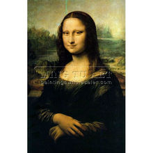100% Handmade Old Master oil painting reproduction on fabrics,Portrait of Mona Lisa by Leonardo Da Vinci