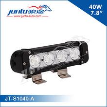 9-70V multi volt 4x10W single row LED driving light bar for atv, jeep, roof, rack lights for car