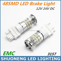 New Design Hot Selling 3014 48W 12V 24V 420lm Hi/Lo SMD Car Light 3157 LED