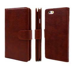Lichi grain Leather wallet case for Samsung S5 active 5.1 inch