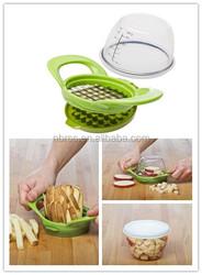 Kitchen Utensil Plastic Vegetable Slicer and Fruit Slicer Dice and Store Vegetable Chopper Fruit Chopper for Salad