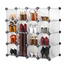 Homa extendable plastic cube shoe rack with cover