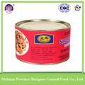 2015 hot venda de produtos prontos para comer carne de porco enlatada produtos