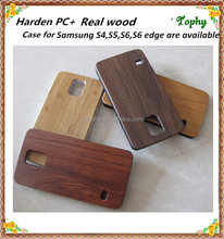 Real natural bamboo wood , blank wood cellphone housing for samsung s6 edge,private label phone accessories