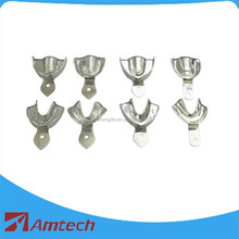 Dental products with CE certificate Stainless steel impression tray flat bottom with hole