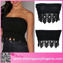 Black crochet mini sexy tops off shoulder tops sexy off shoulder top