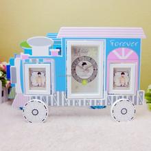 Wholesale 2015 New Design Funny Cheap Train Shape Desktop Clock / Alarm Clock /Table Clock For Kids Gifts
