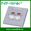 Best price Dual Port 86 UK type 45 degree Faceplate for RJ45