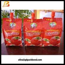 2015 New Designing Flexible Plastic Spout Pouch for Sauce Packet
