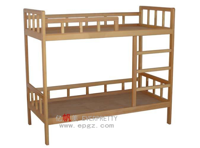 Cheap Pine Wood Double Decker Bed Bedroom Furniture Wood Double Bed Designs with Box
