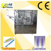 Hot Sale Automatic Rotary Toothpaste Tube Filling Sealing Machine, Best quality Laminated Tube Filler for Cosmetics Cream