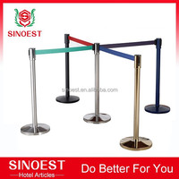 Stainless steel Retractable Tape bank queue system post