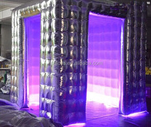 silver photobooth portbale / inflatable silver lighting photo booth / inflatable led photo booth