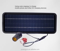 Name brand SUNERGY solar car charge 4.5W for charging car battery and phones