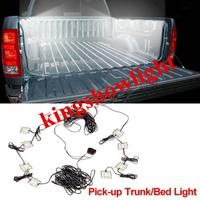 8pc Pick Up Truck Bed/Rear Work Box 48white LED Lighting System Light Kit
