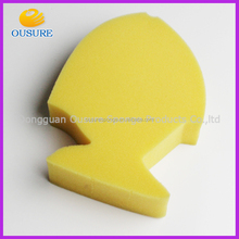 Fish shape pu bath sponge kids bath sponge