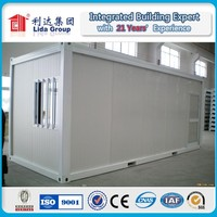 Prefabricated 20ft container office in china/ Fireproof sandwich panel container cabin