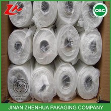 chinese manufacture hdpe flat bag supermarket bag clear food packing bag on roll