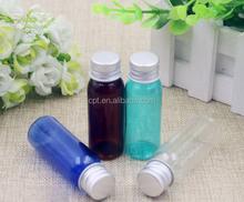 new 20ML pet plastic round bottle with aluminum cap