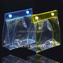 plastic clear pvc packaging pouch bag underwear packaging