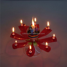 Birthday Supply!! Fashion Flower lovely Doll birthday candle