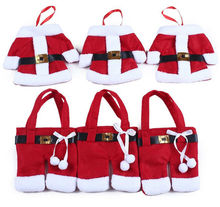 Christmas Decorations plush Santa bag Clothes Style