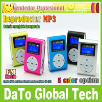 Mini Clip Mp3 Music Player With LCD Screen Firmware FM Radio Earphones & USB Cable & Retail Box