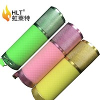 Wholesale aluminum alloy colorful 9 LED micro torch