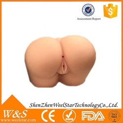 Fancy sex toy pussy pictures, ass sex toy female ass doll massager for male, female silicone fake ass sex toy